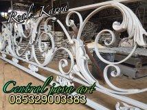 Pagar Besi Tempa klasik, railing tangga klasik, Besi Tempa klasik ,v