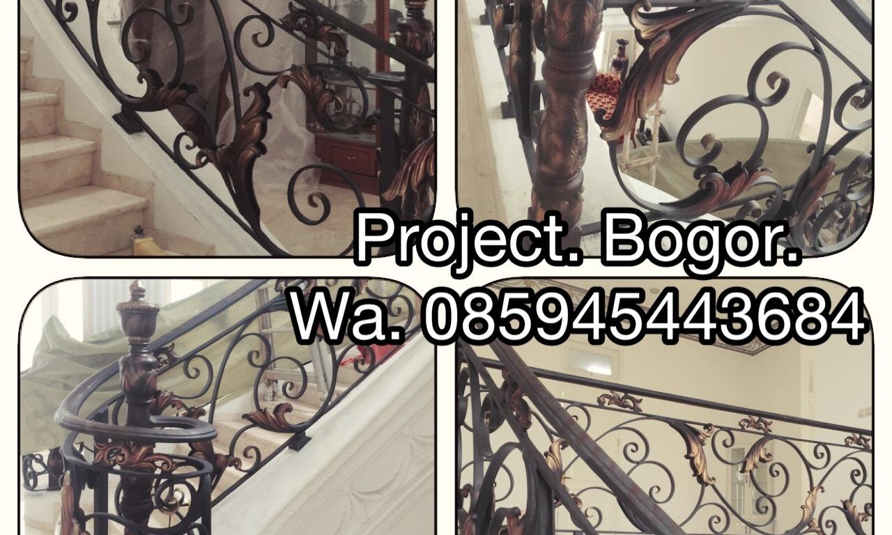 TralisPAGAR BESI TEMPA Railling Tangga Klasik Rumah Klasik Mewah