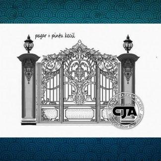 Pagar Besi Tempa klasik, railing tangga klasik, Besi Tempa klasik ,z